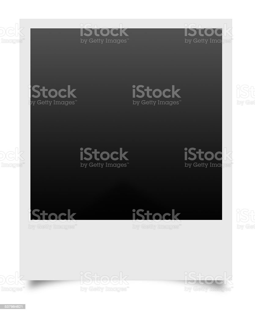 blank photos on a white background stock photo