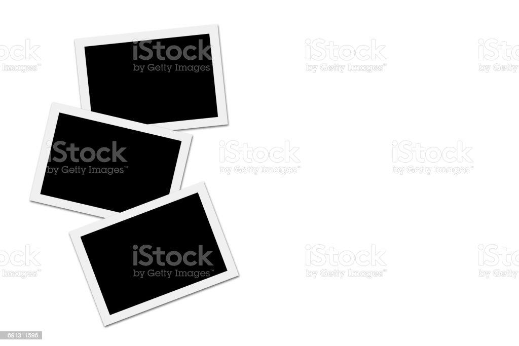 Blank photos on White background stock photo