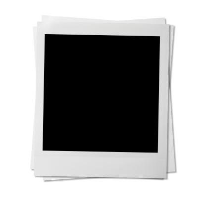 Blank photos on white.