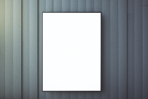 518847146 istock photo Blank picture frame on a concrete wall, mock up 516173924