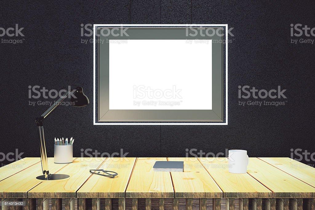 Cadre vide sur mur noir u2013 photos et plus dimages de affaires istock
