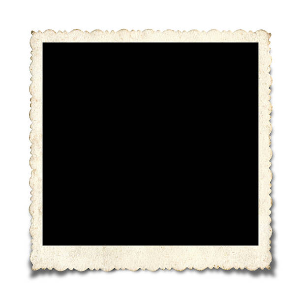Blank Picture Frame paper textured background Blank Picture Frame (Within the clipping path) paper textured background isolated on white background with Drop Shadow. 20th century style stock pictures, royalty-free photos & images