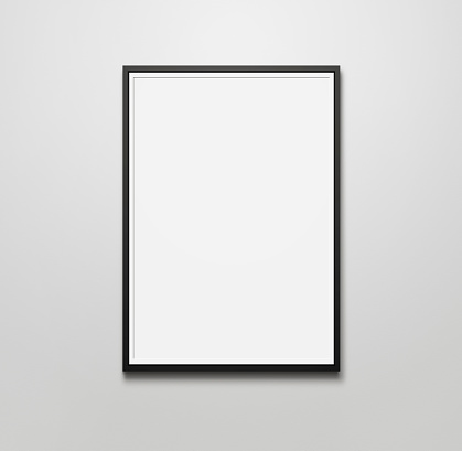 istock Blank picture frame 522960593