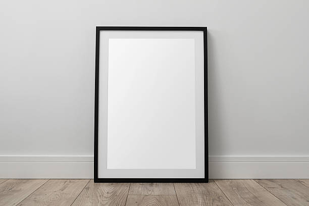 Blank picture frame stock photo