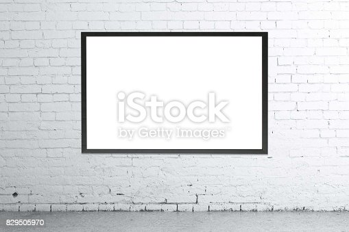 istock Blank picture frame 829505970