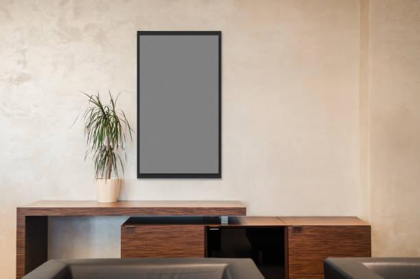 leeres bild frame tepmplate - zeitschrift wandkunst stock-fotos und bilder