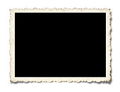Blank Picture Frame (Within the clipping path) isolated on white background with drop shadow.