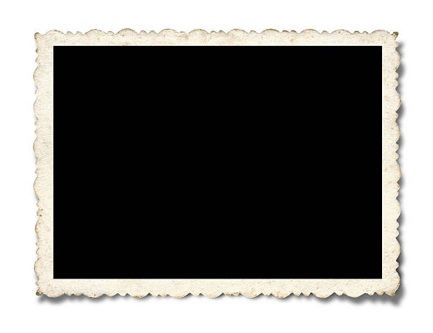 blank picture frame textured(clipping path!) isolated on white background - 剪貼簿 個照片及圖片檔