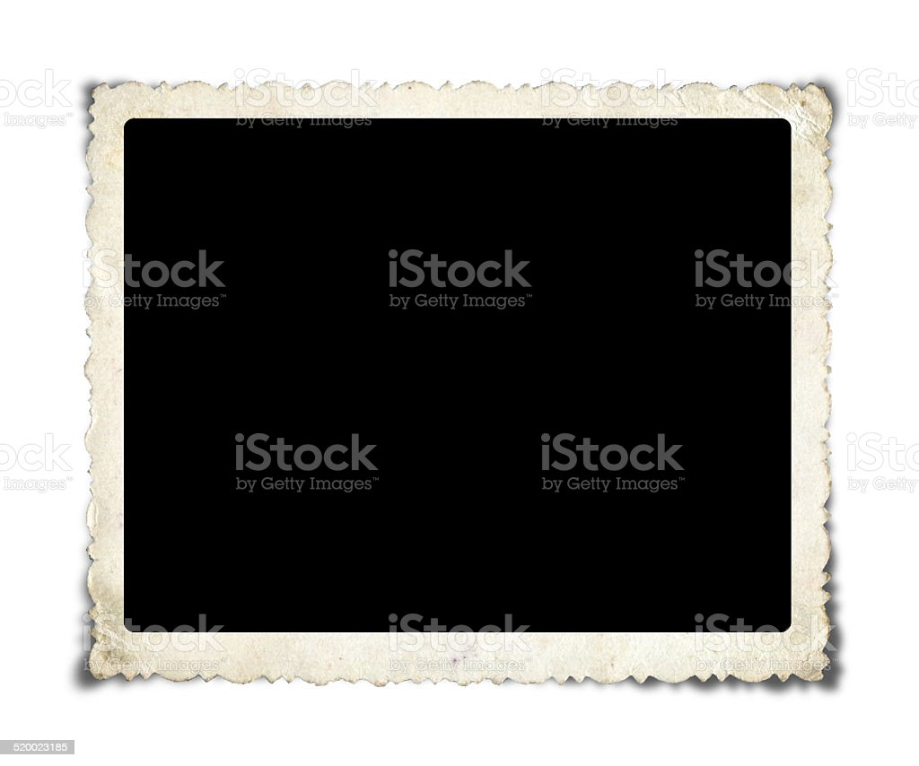 Blank Picture paper Frame isolated on white background stock photo