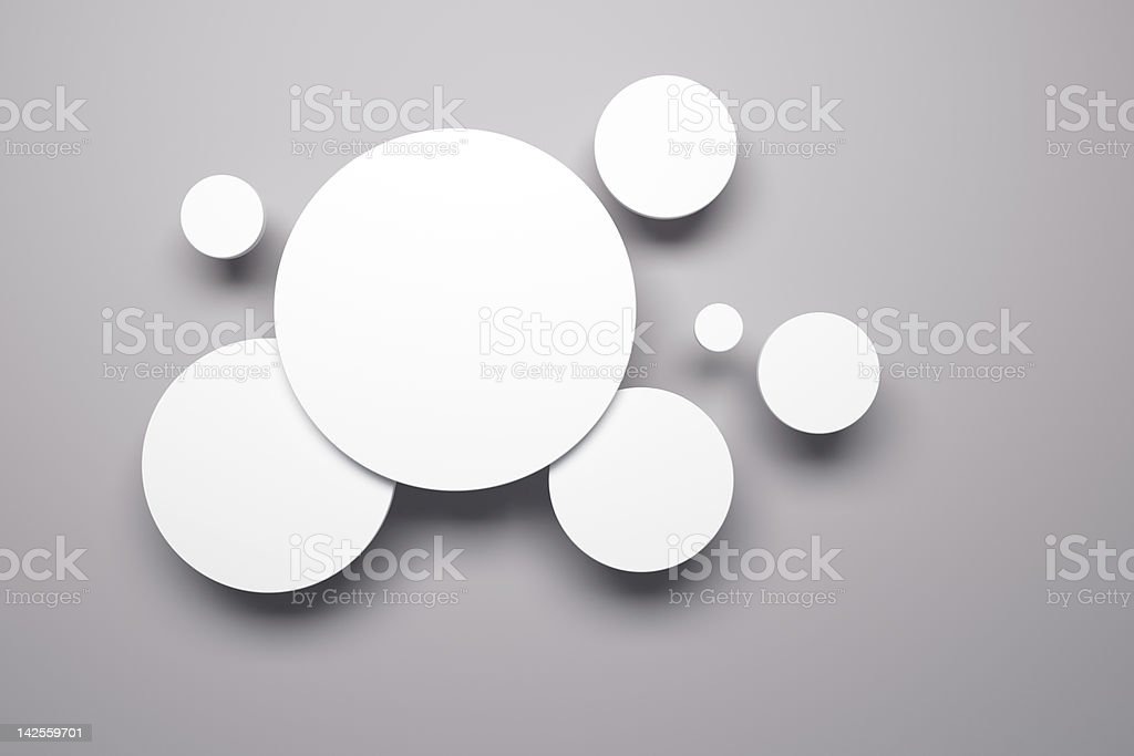 blank pictures on the wall royalty-free stock photo