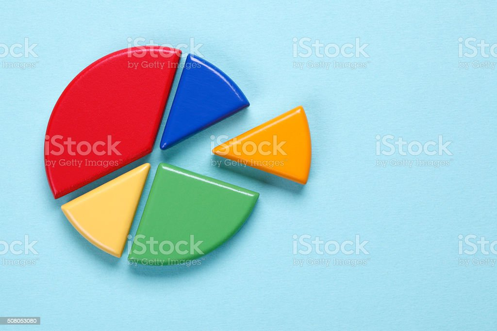 Blank pie chart stock photo