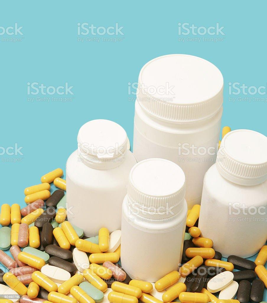 Blank Pill Bottles royalty-free stock photo