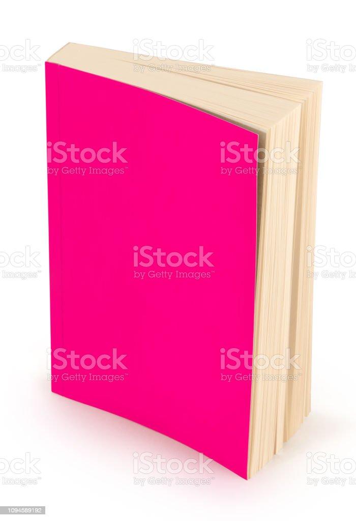 leeres rosa Buch Cover-Clipping-Pfad – Foto