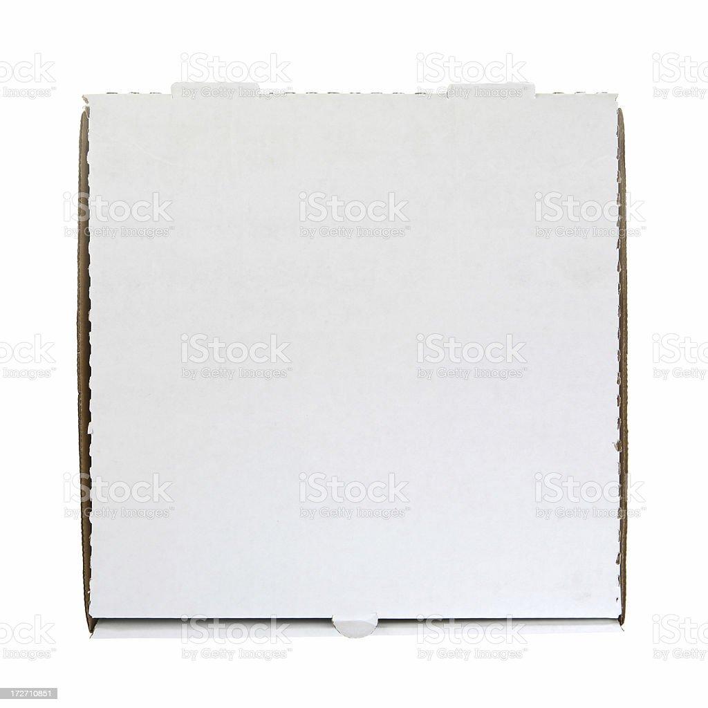 Blank Pizza Box royalty-free stock photo