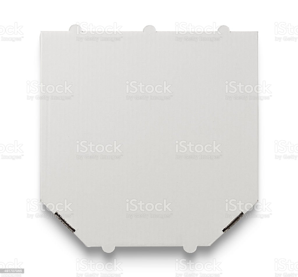 Blank pizza box stock photo
