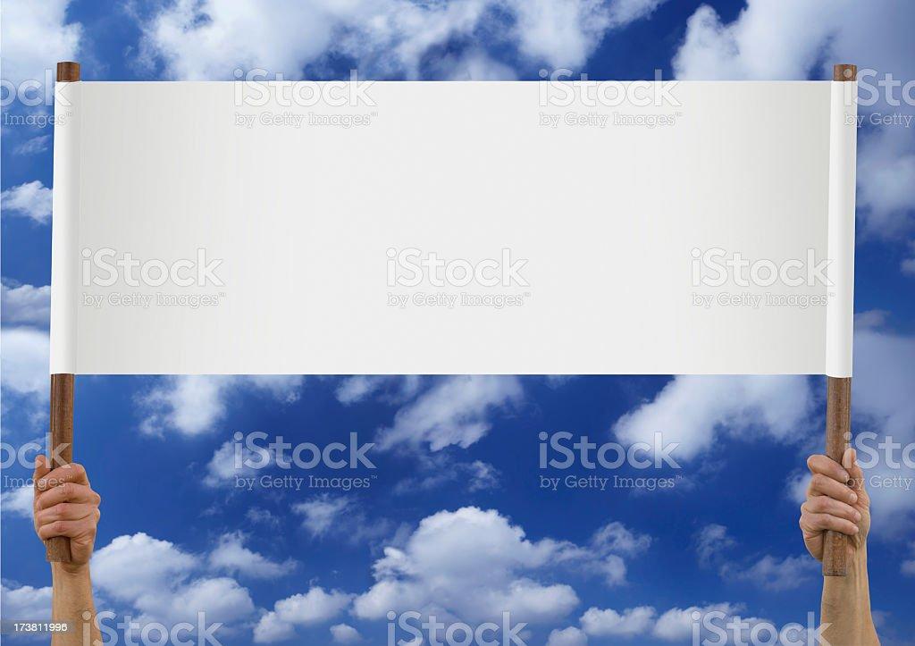 blank placard royalty-free stock photo