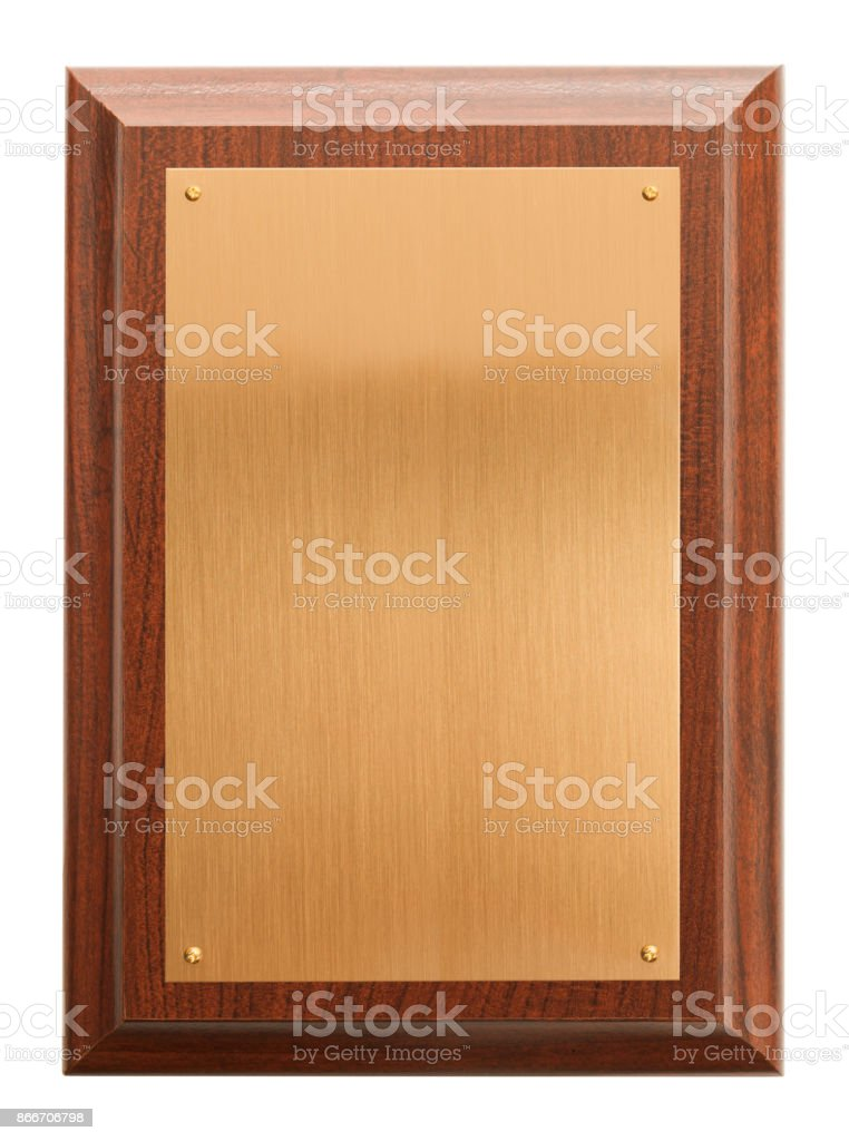 Blank Plaque stock photo