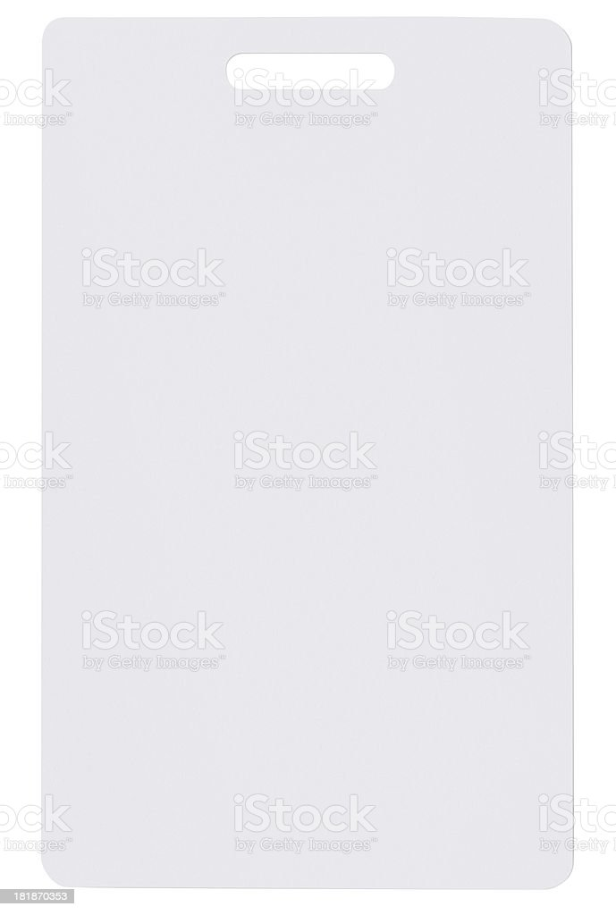 Blank plastic badge royalty-free stock photo