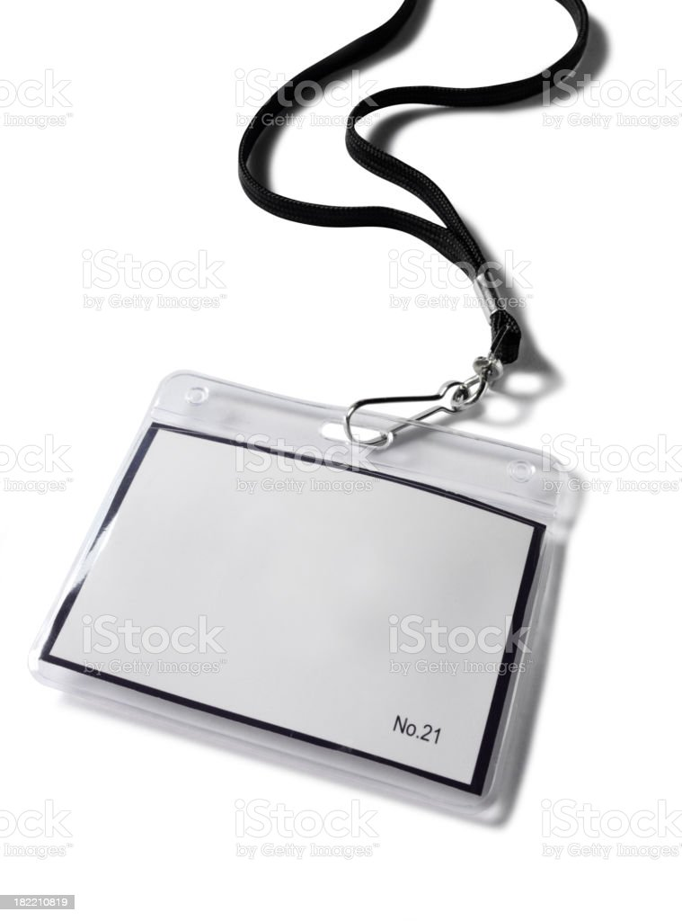Blank Plastic Badge royalty-free stock photo