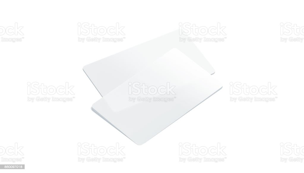 Blank Plastic Transparent Business Cards Mockup Isolated Royalty Free Stock Photo