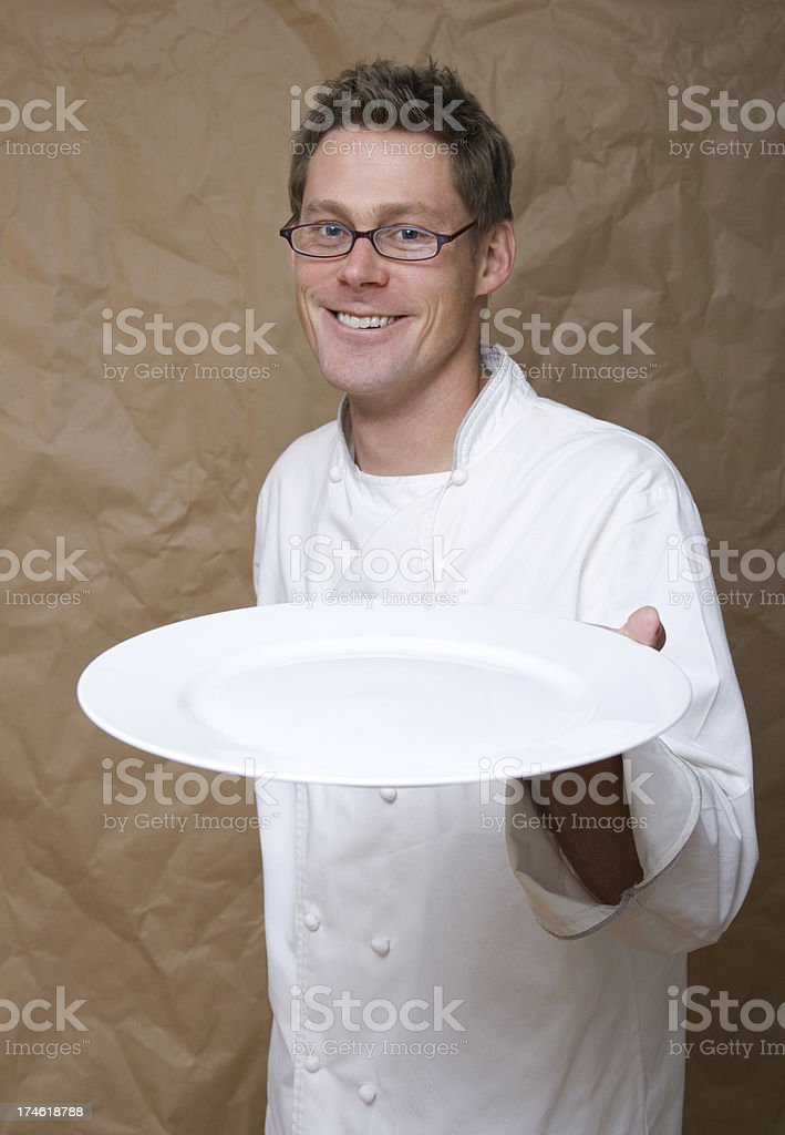 Blank Plate from Chef royalty-free stock photo