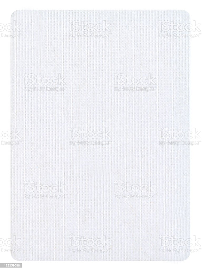 Blank  Playing card Isolated (clipping path included) royalty-free stock photo