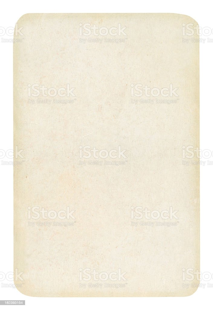 A blank playing card on a white background royalty-free stock photo