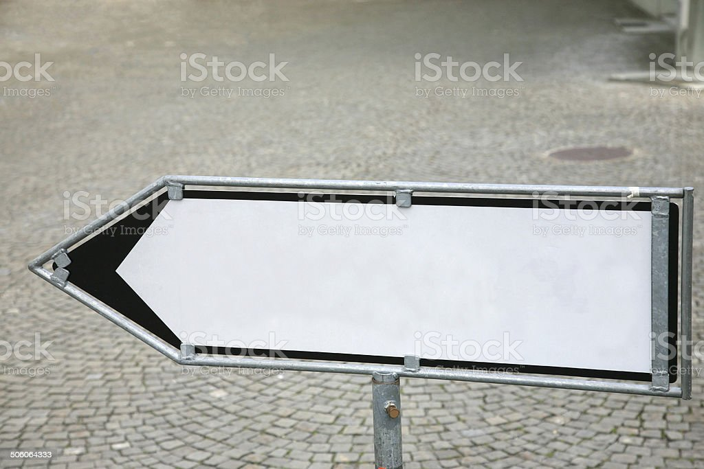 Blank pointing sign royalty-free stock photo
