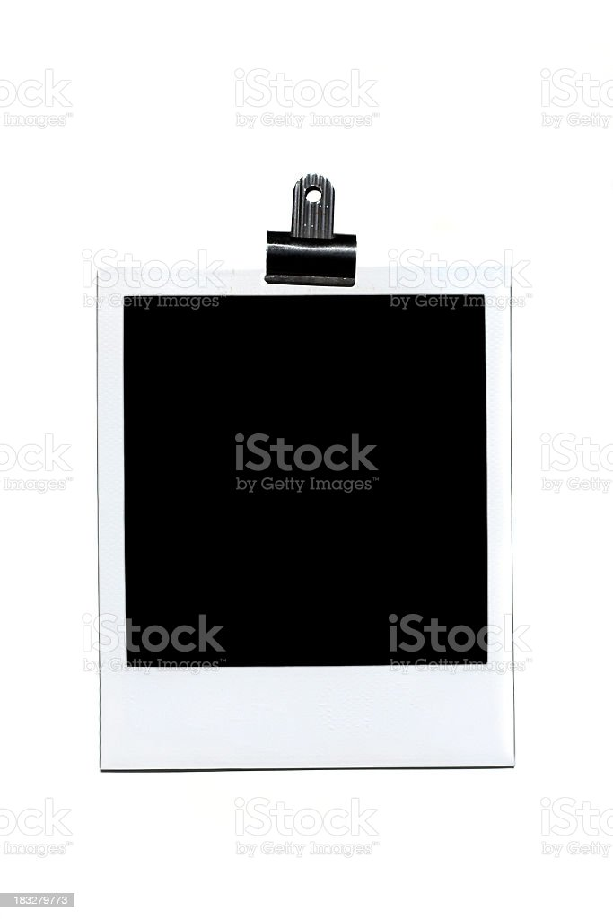 A blank Polaroid photo on a white background royalty-free stock photo