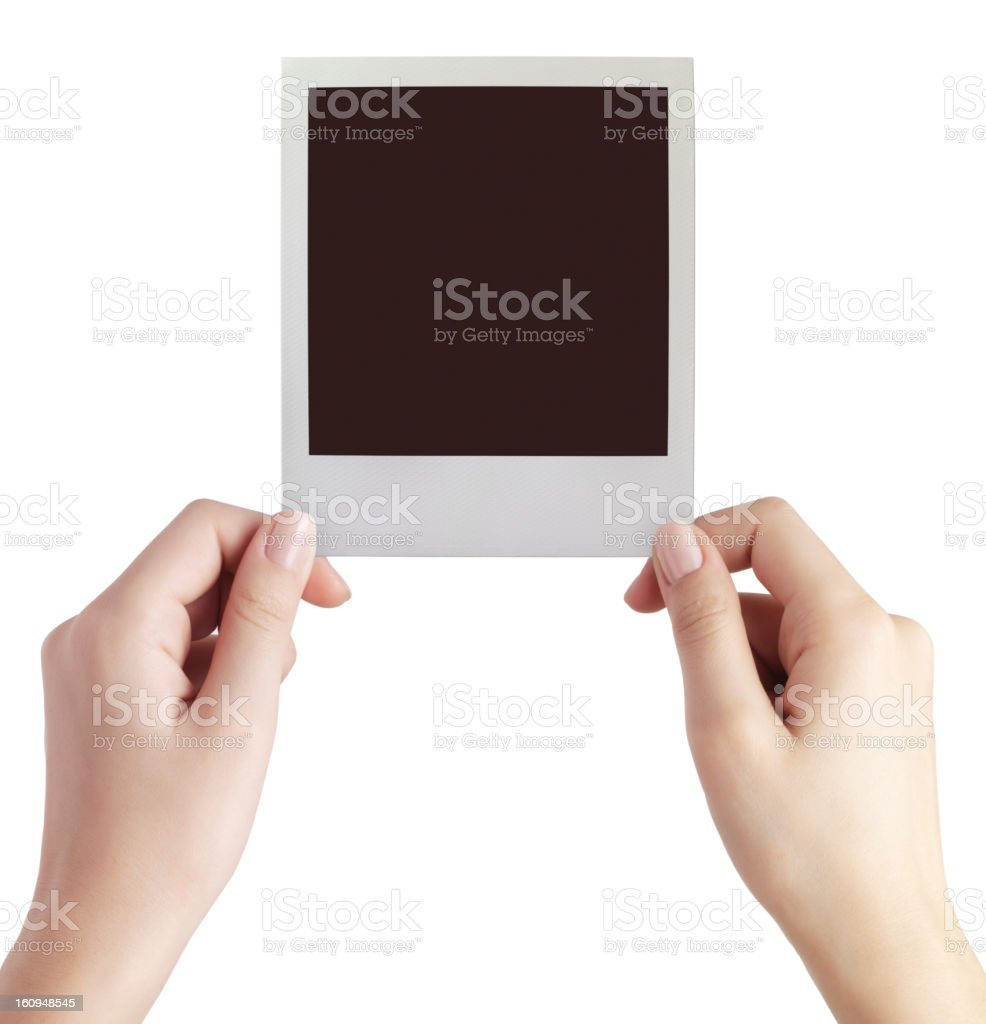 blank polaroid photo royalty-free stock photo