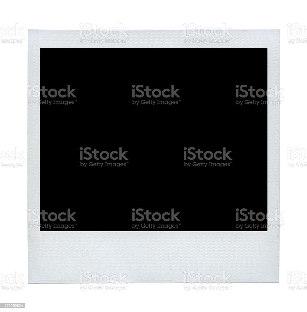 Blank Polaroid photo vector illustration royalty-free stock photo