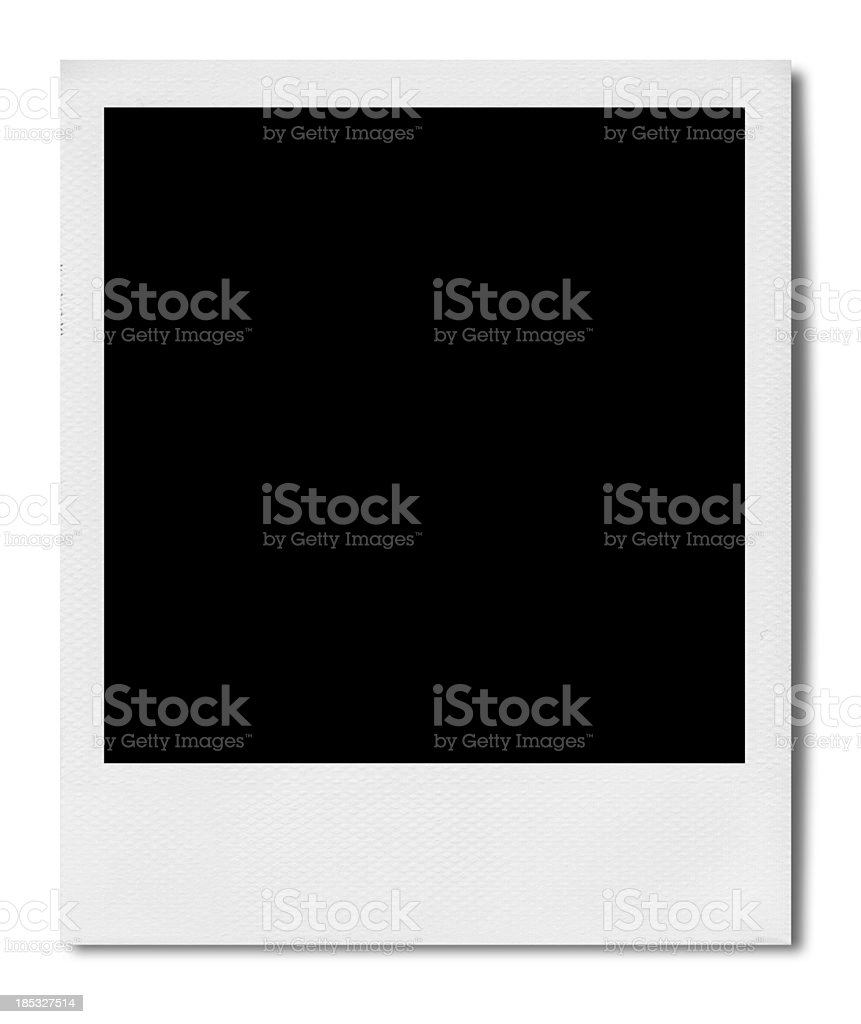 Blank Polaroid (Clipping Path) stock photo