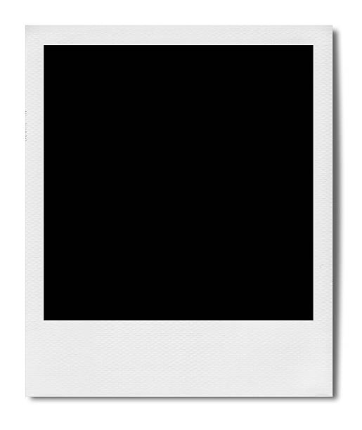 blank polaroid (clipping path) - polaroid stockfoto's en -beelden