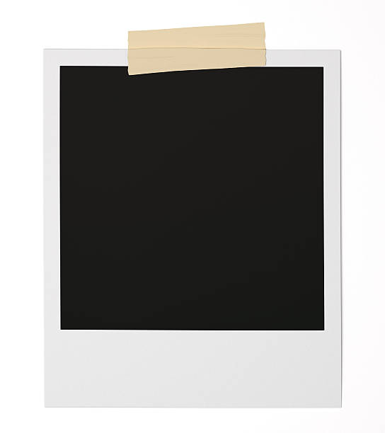 Blank Polaroid stock photo