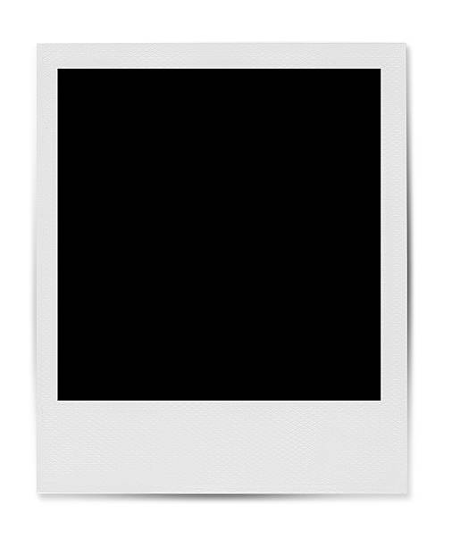 blank polaroid-style photo template - polaroid stockfoto's en -beelden