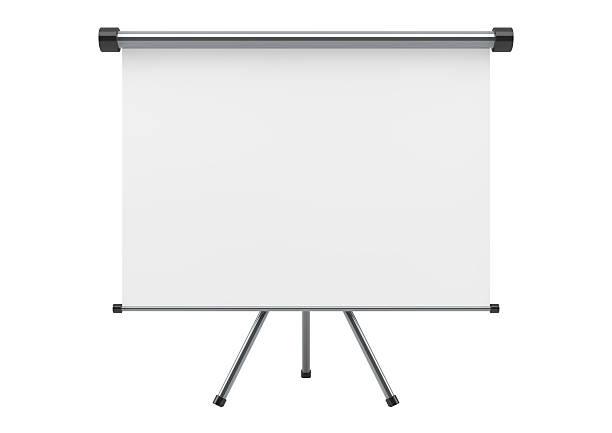 Blank portable écran de projection - Photo