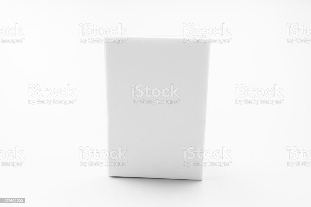 blank portrait mockup paper brochure magazine isolated on gray