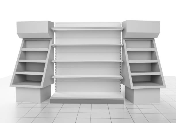 Blank POS Product Stand Or Shelf stock photo