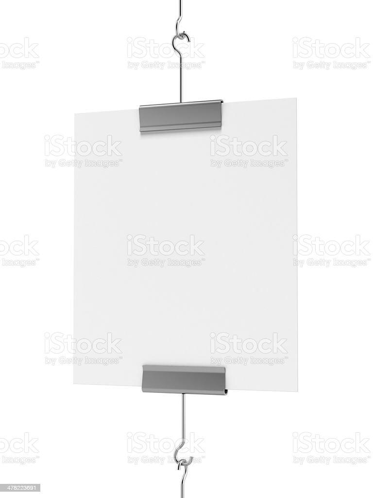 Blank post hanging royalty-free stock photo