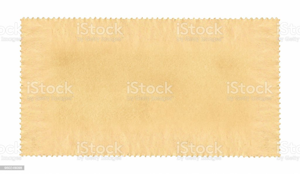 Blank postage stamp paper textured background stock photo