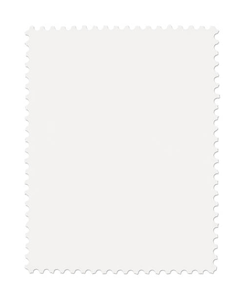 Blank Postage Stamp stock photo