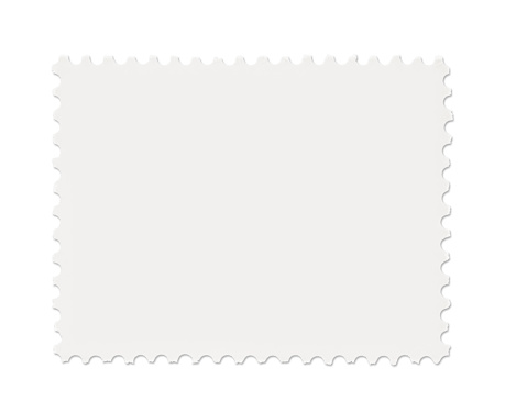 Blank Postage Stamp isolated on white