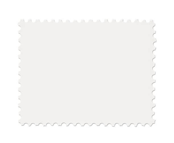 Blank Postage Stamp Blank Postage Stamp isolated on white stamp stock pictures, royalty-free photos & images