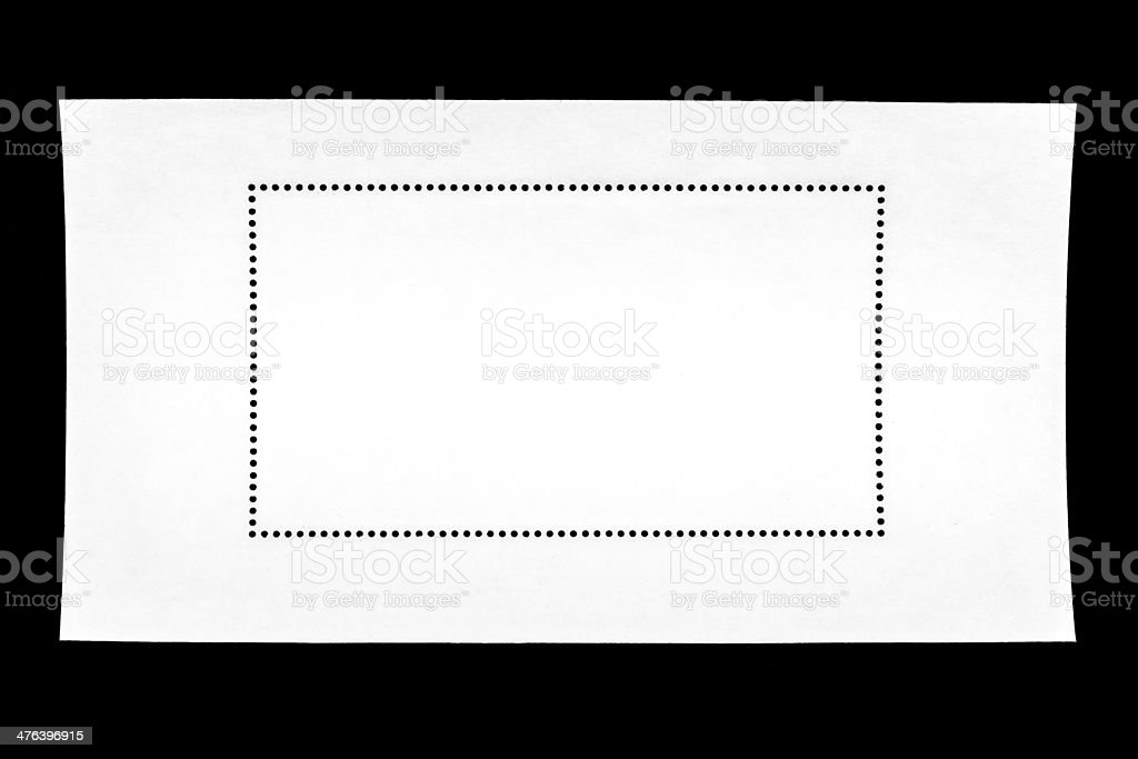 Blank postage stamp texture royalty-free stock photo