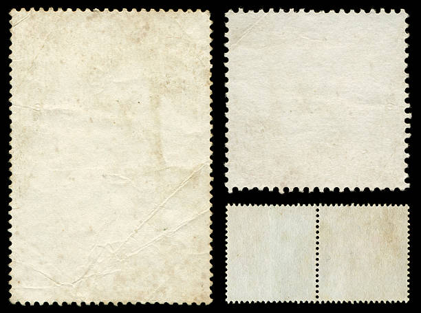 Blank postage stamp textured background isolated ★Lightbox: Textures & Backgrounds stamp stock pictures, royalty-free photos & images