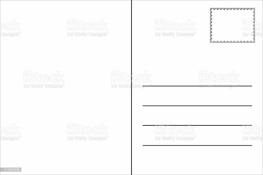 Blank Postcard Template royalty-free stock photo