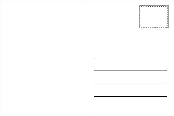 blank postcard template - postcard template stock photos and pictures