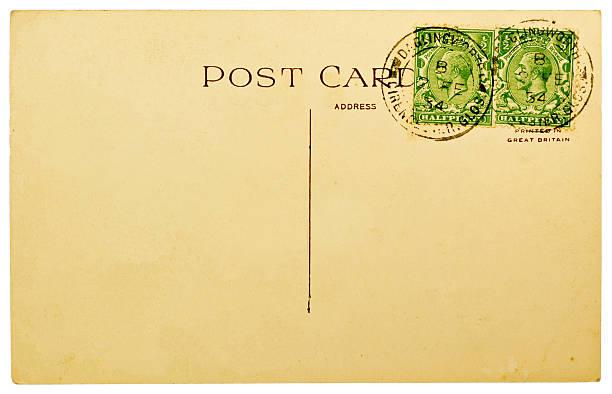 Vuoto d'epoca Cartolina con francobolli britannici - foto stock