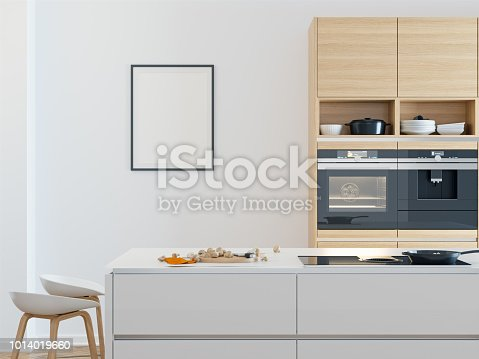 Blank Poster at Kitchen