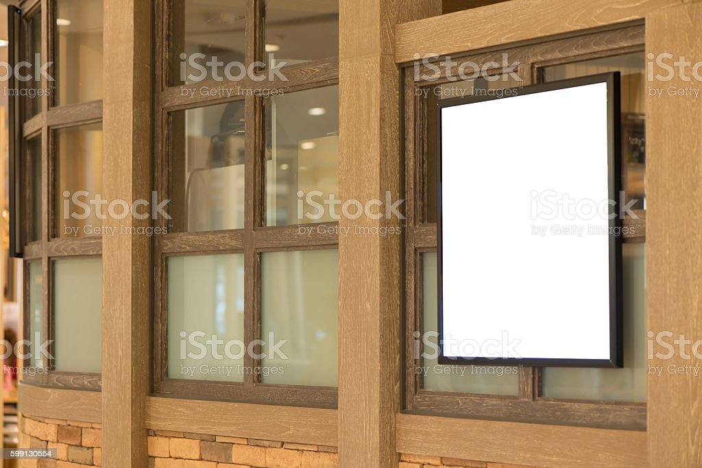 Blank poster billboard wall with copy space. stock photo